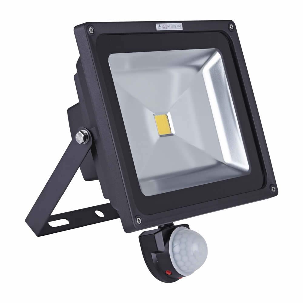 Faro Proiettore LED COB 50W con Sensore di Movimento