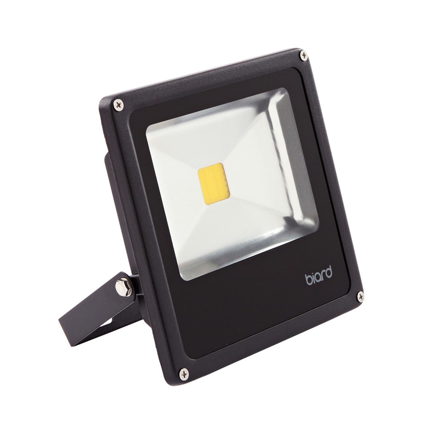 Faro Proiettore LED 20W Equivalente a 120 Watt con Struttura Nera