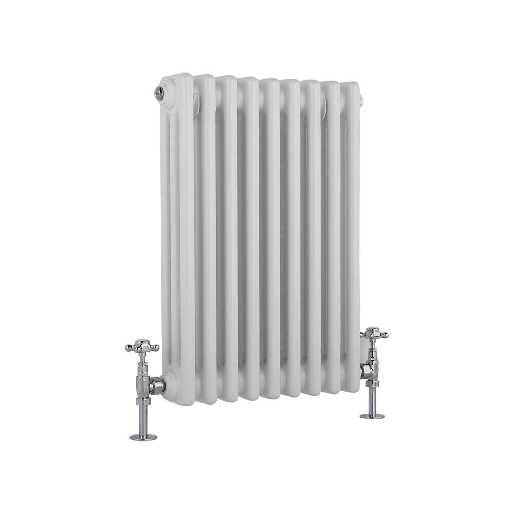 Radiatore di Design Orizzontale a 3 Colonne Tradizionale - Bianco - 600mm x 405mm x 100mm - 721 Watt - Regent