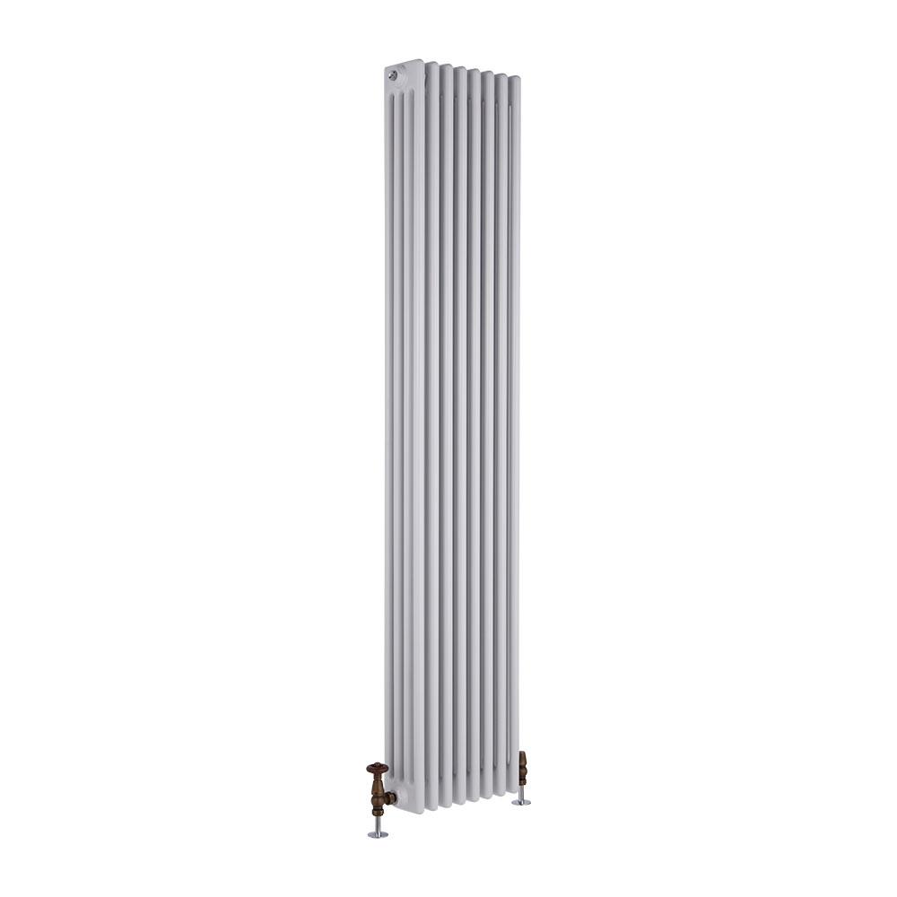 Radiatore di Design Verticale a 4 Colonne Tradizionale - Bianco - 1800mm x 360mm x 133mm - 2153 Watt - Regent