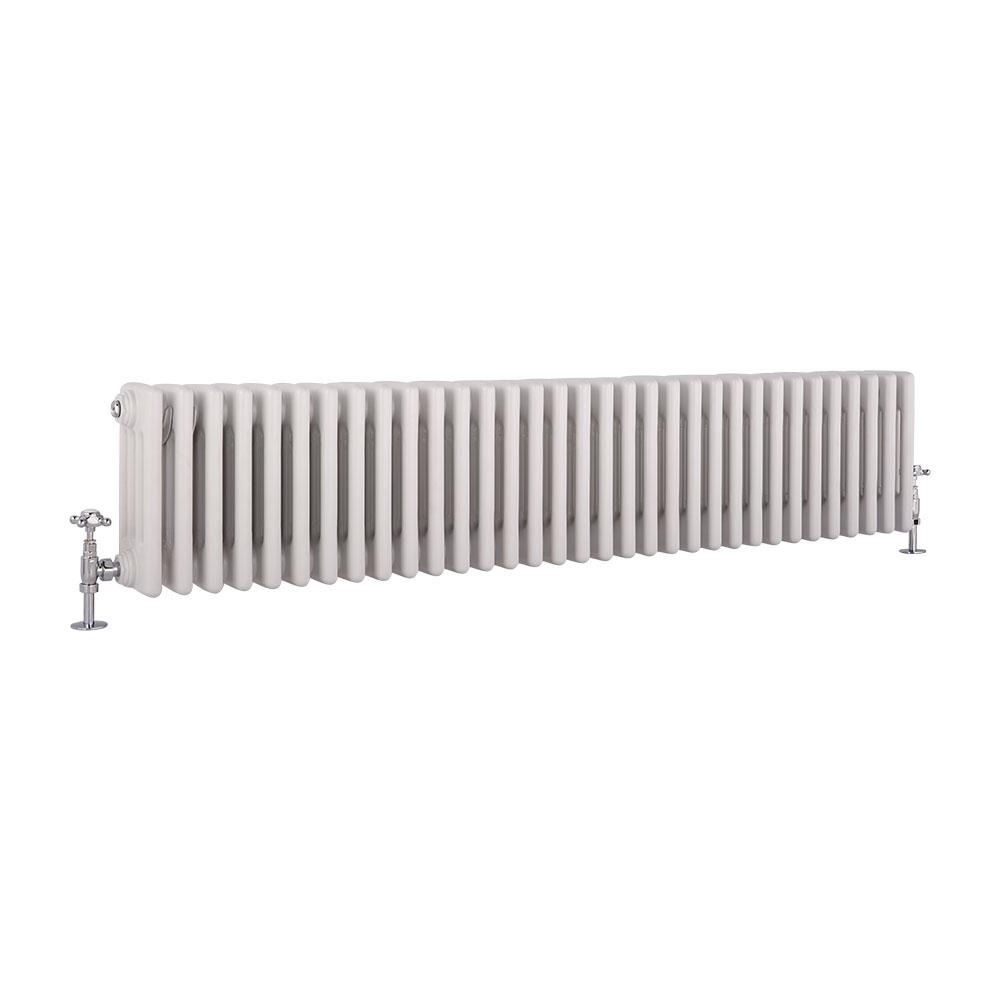 Radiatore di Design Orizzontale a 4 Colonne Tradizionale - Bianco - 300mm x 1485mm x 133mm - 1793 Watt - Regent