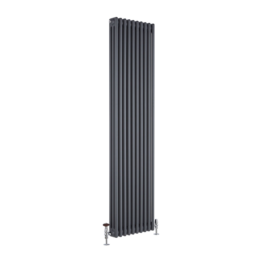 Radiatore di Design Verticale a 3 Colonne Tradizionale - Antracite - 1800mm x 450mm x 100mm - 2171 Watt - Regent