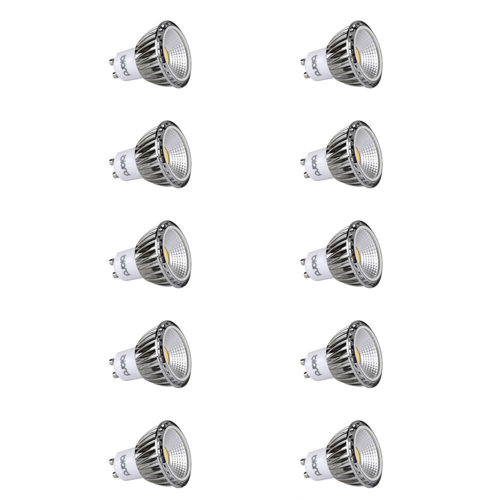 Biard Set 10x Lampadine Spot LED Moderni COB 5W GU10 Equivalente a 50W