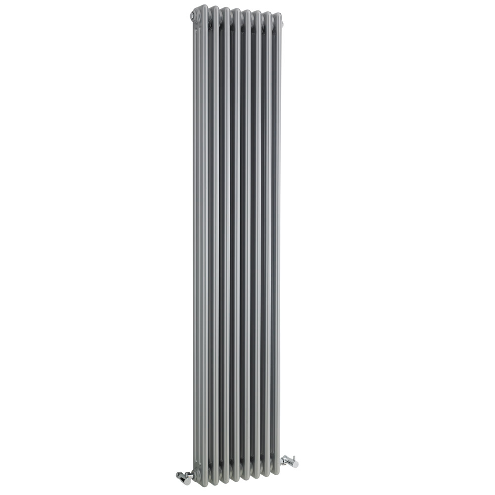 Radiatore di Design Verticale a 3 Colonne Tradizionale - Argento - 1800mm x 381mm x 100mm - 1558 Watt - Regent