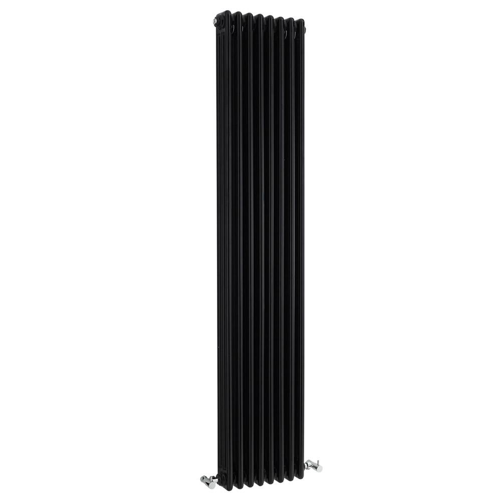 Radiatore di Design Verticale a 3 Colonne Tradizionale - Nero - 1800mm x 381mm x 100mm - 2411 Watt - Regent