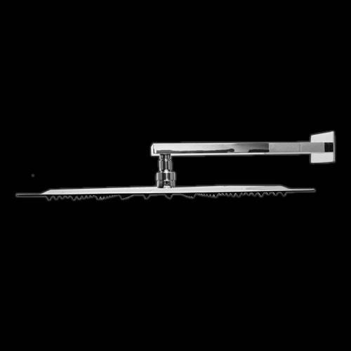 Soffione Doccia Quadrato Ultrapiatto 400 x 400mm con Braccio Doccia