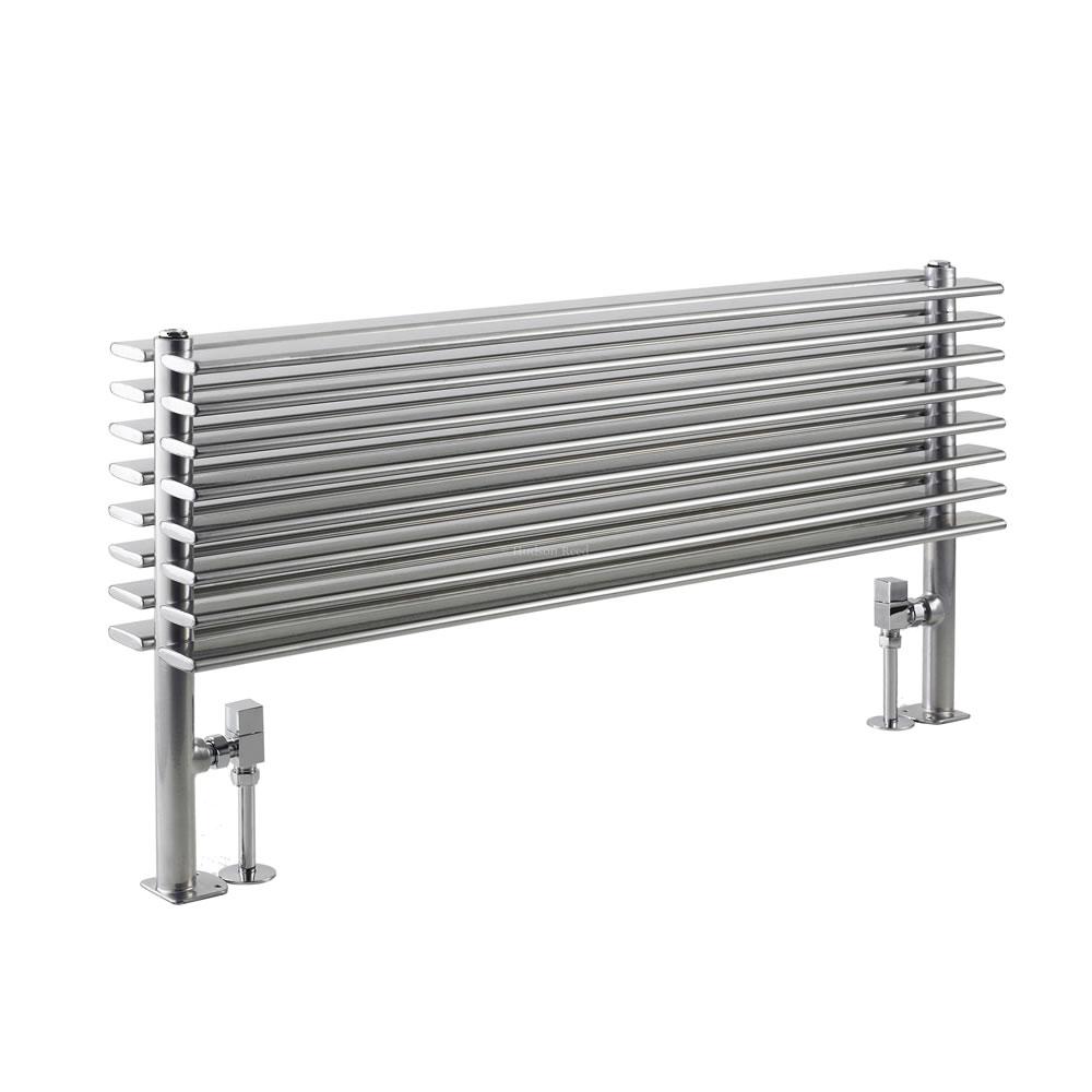 Radiatore di Design Orizzontale Doppio - Colore Argento - 504mm x 1000mm x 146mm - 1016 Watt - Parallel