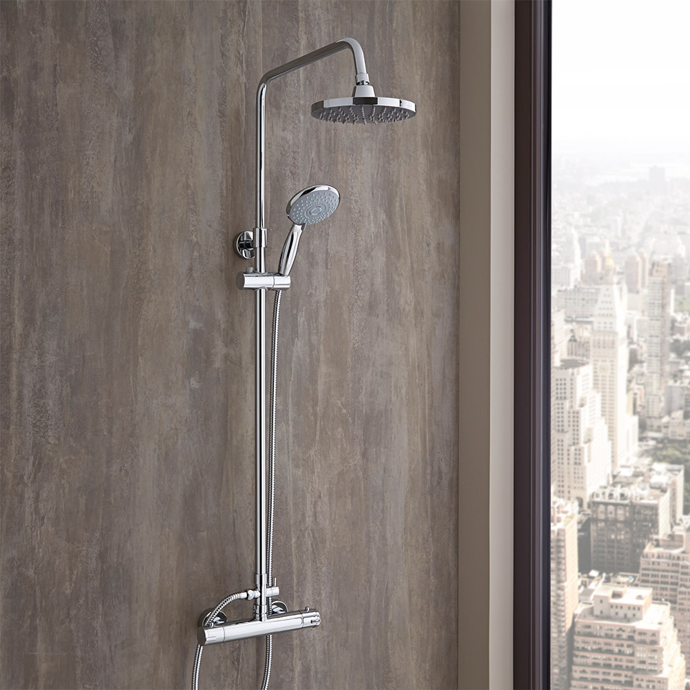 Accessori Bagno Acquisto On Line : Colonna doccia regolabile completa di miscelatore
