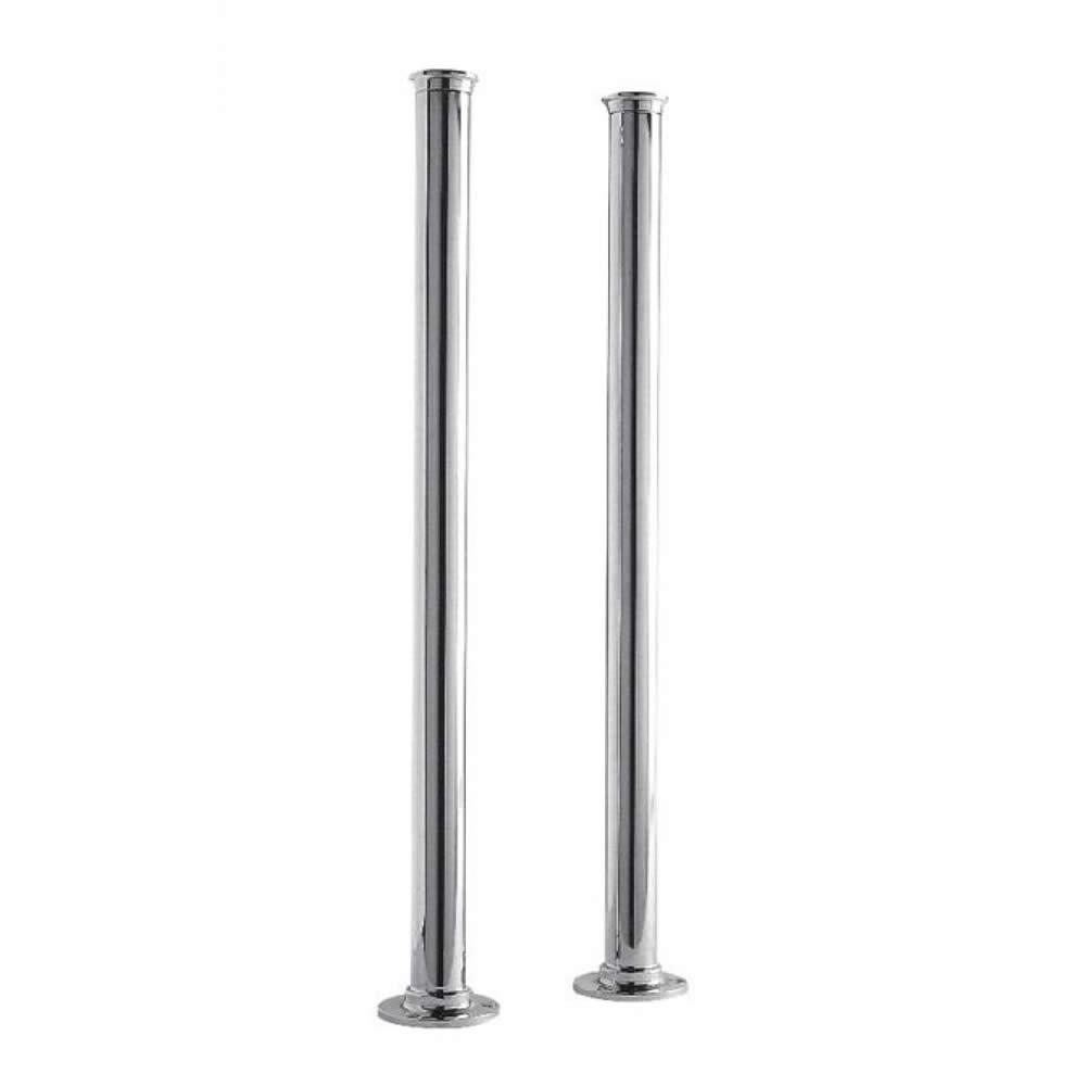 Paio Copri Tubi per Vasca Freestanding in Cromo per Miscelatore per Vasca