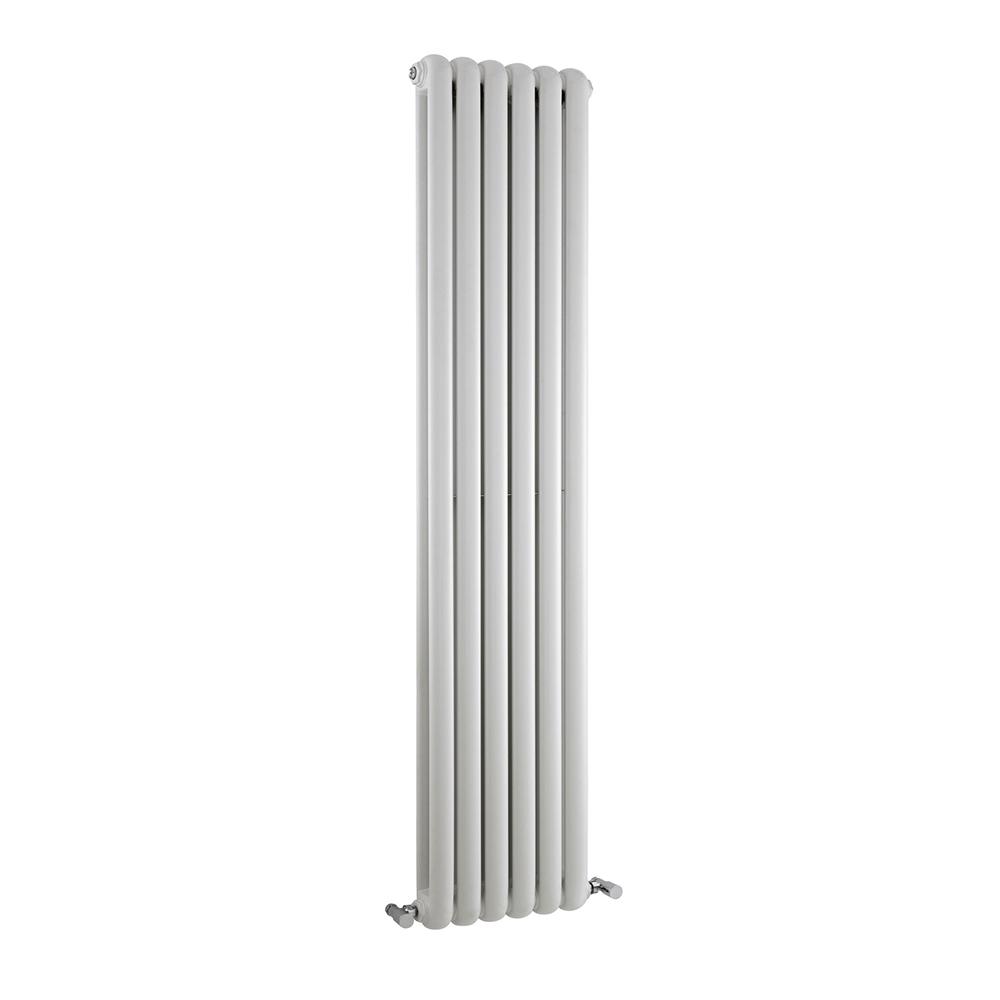 Radiatore di Design Verticale Doppio Tradizionale - Bianco - 1500mm x 383mm x 80mm - 1258 Watt – Saffre