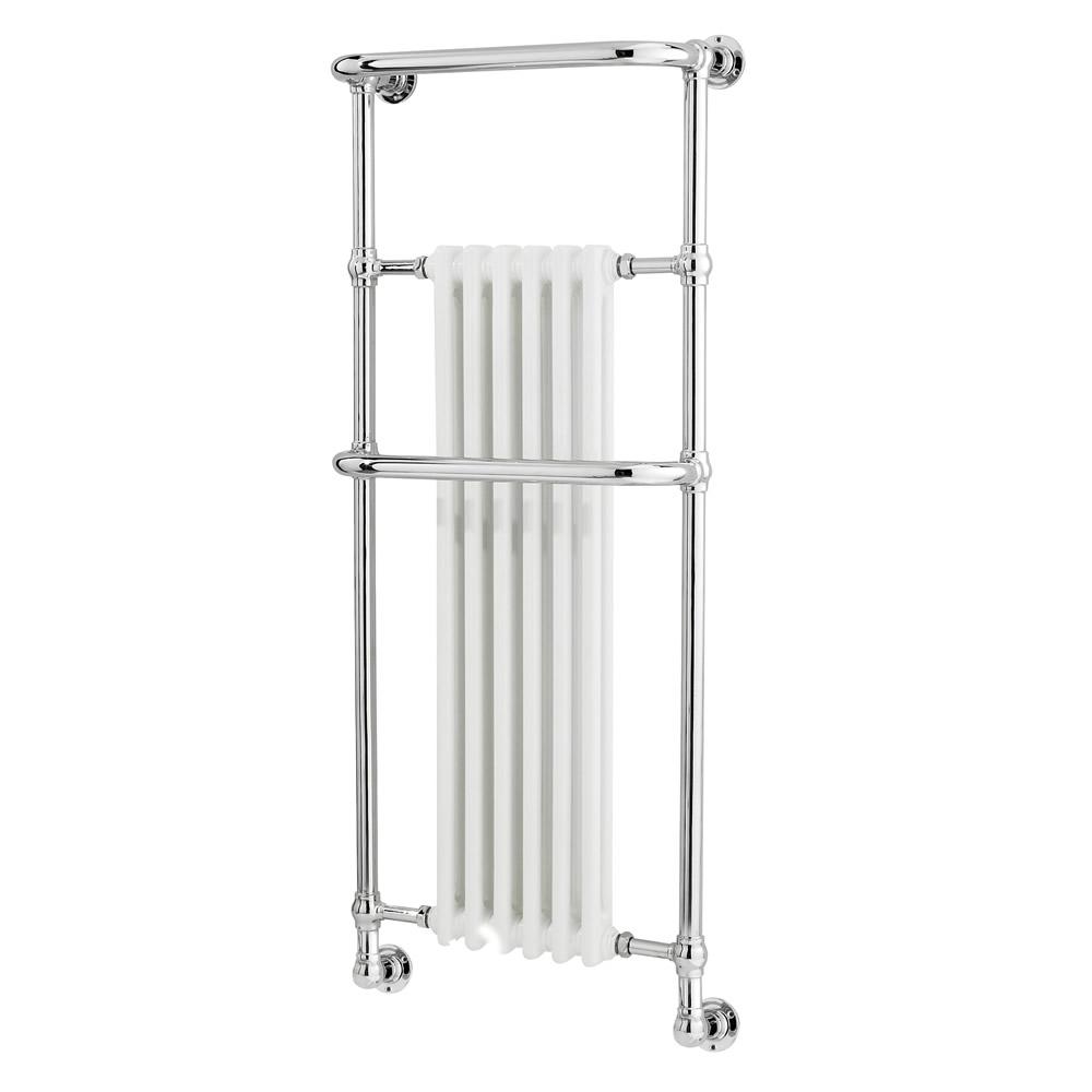 Radiatore Scaldasalviette Tradizionale Brampton - Acciaio Cromato - 1365mm x 575mm - 789 Watt