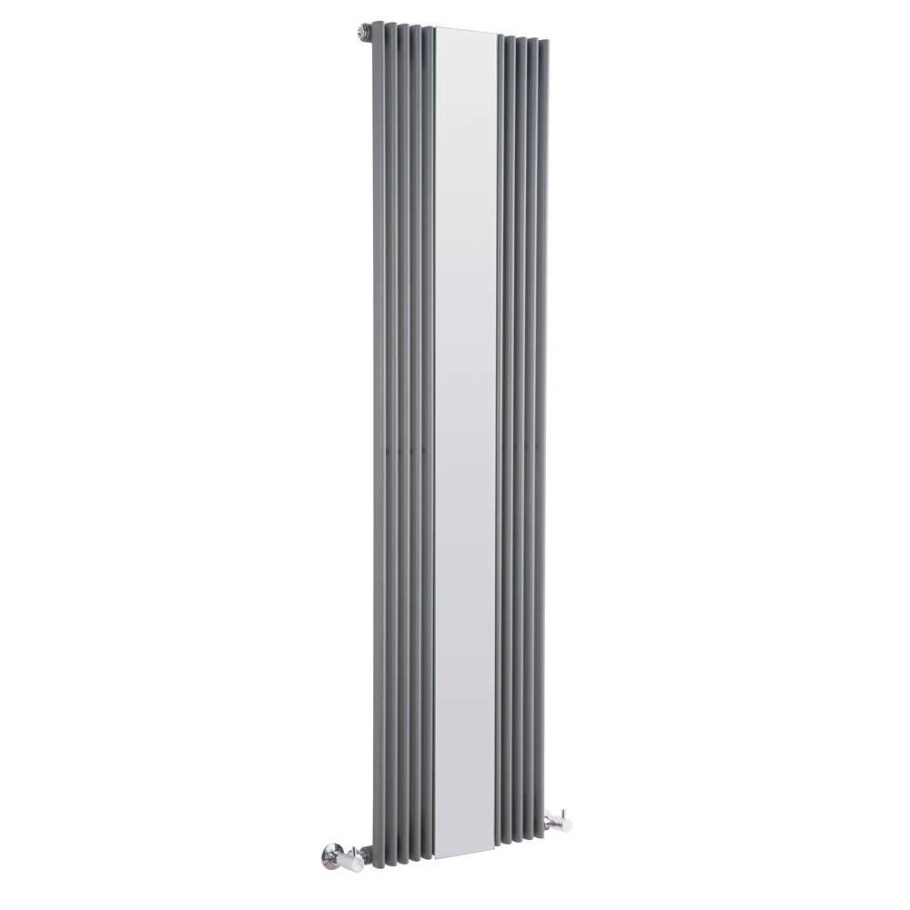 Radiatore di Design Verticale con Specchio - Antracite - 1600mm x 420mm x 62mm - 840 Watt - Keida
