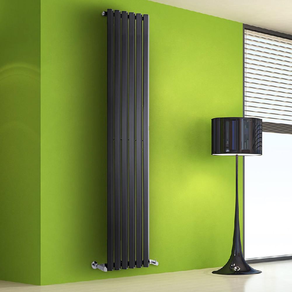 Radiatore di Design Verticale - Nero - 1780mm x 420mm x 60mm - 1050 Watt - Rombo