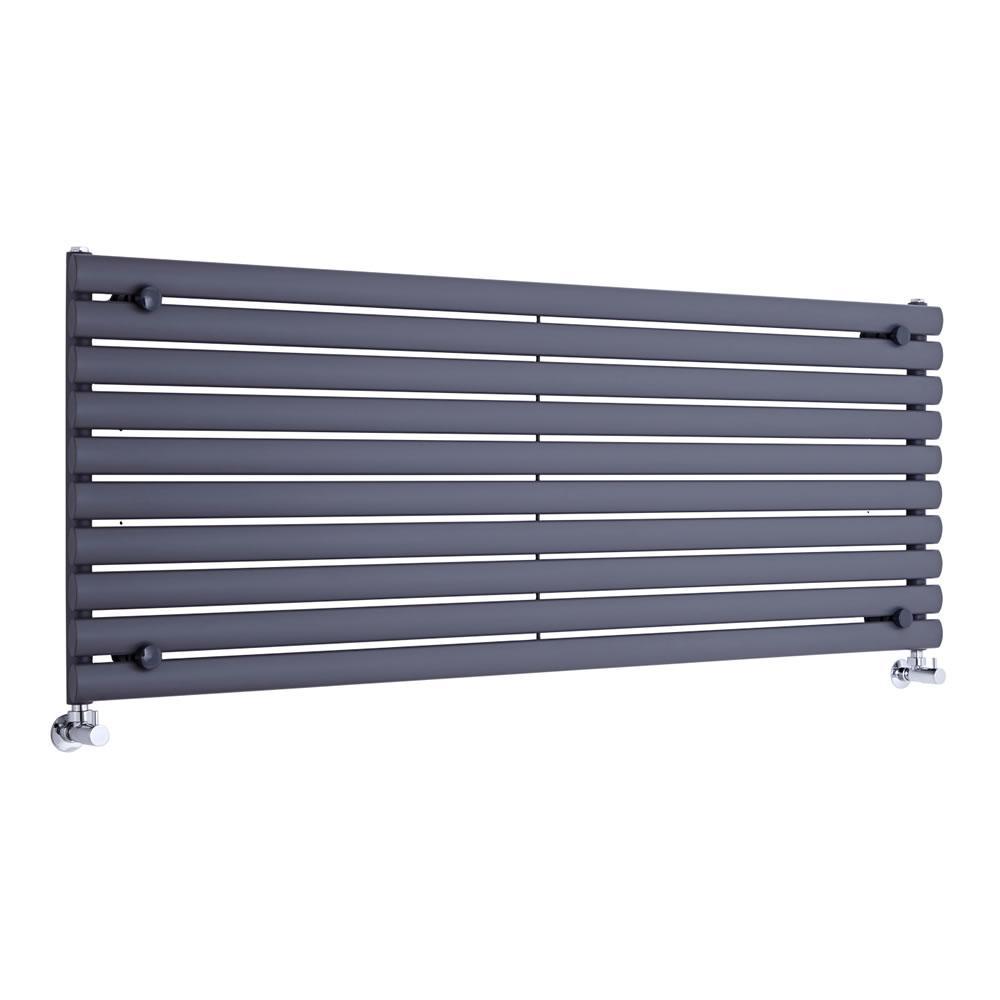 Radiatore di Design Orizzontale  - Antracite - 590mm x 1600mm x 55mm - 1299 Watt - Revive