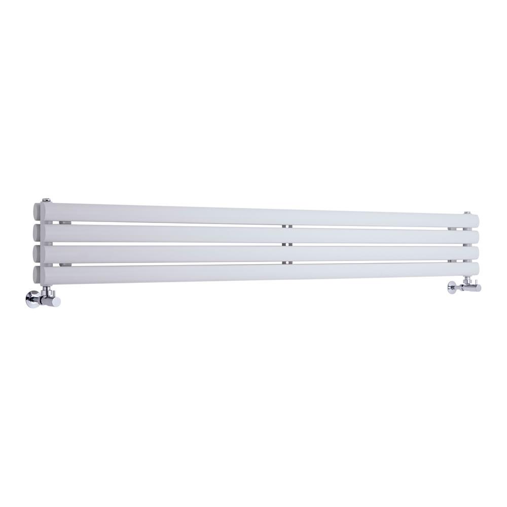 Radiatore di Design Orizzontale Doppio - Bianco - 236mm x 1600mm x 56mm - 815 Watt - Revive