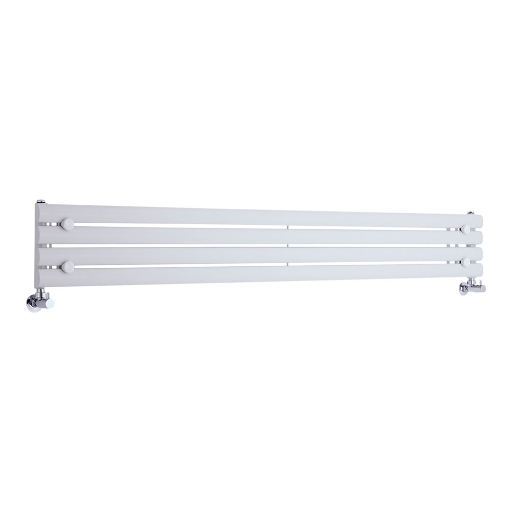 Radiatore di Design Orizzontale  - Bianco - 236mm x 1780mm x 55mm - 647 Watt - Revive
