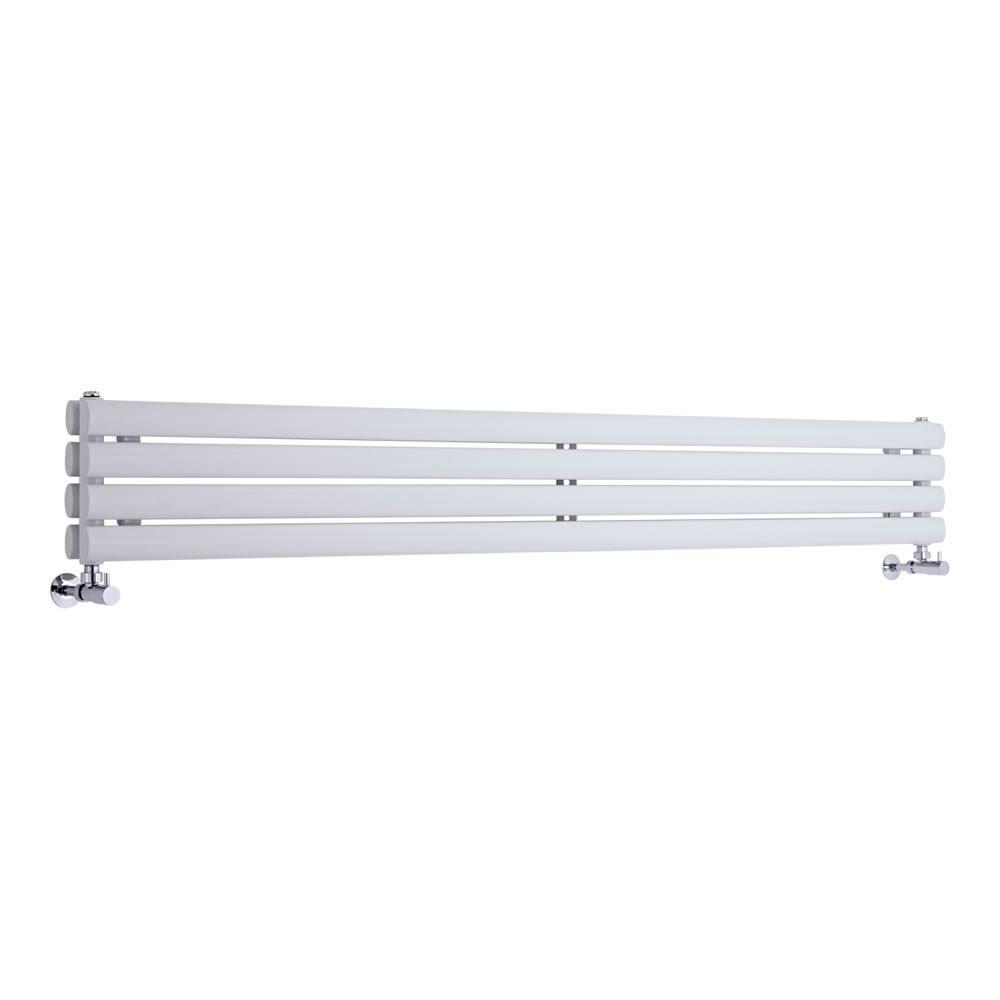 Radiatore di Design Orizzontale Doppio - Bianco - 236mm x 1780mm x 78mm - 921 Watt - Revive