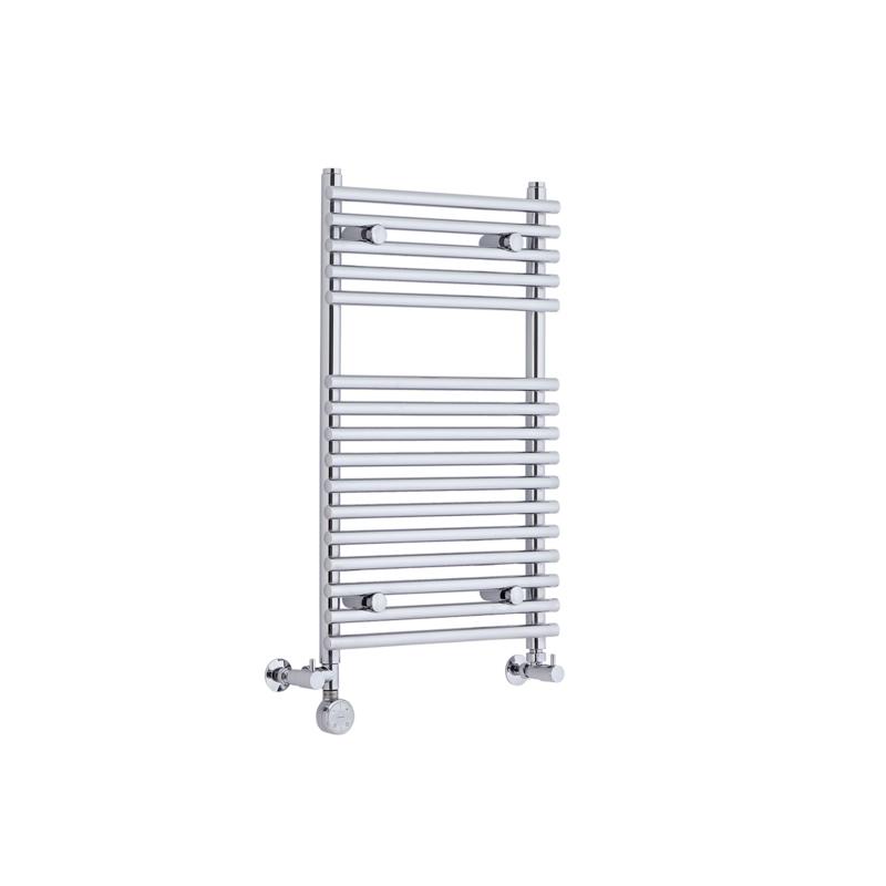 Radiatore Scaldasalviette Misto Piatto - Cromato - 750mm x 450mm x 70mm - 254 Watt - Ischia