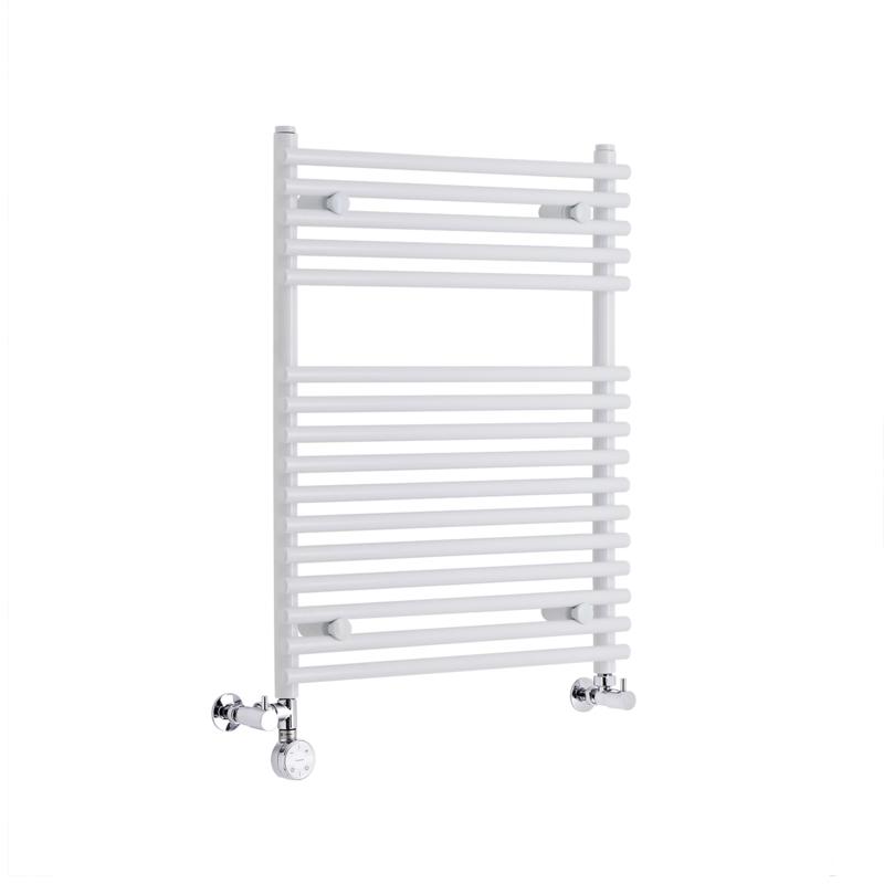Radiatore Scaldasalviette Misto Piatto - Bianco - 750mm x 600mm x 84mm - 343 Watt - Ischia