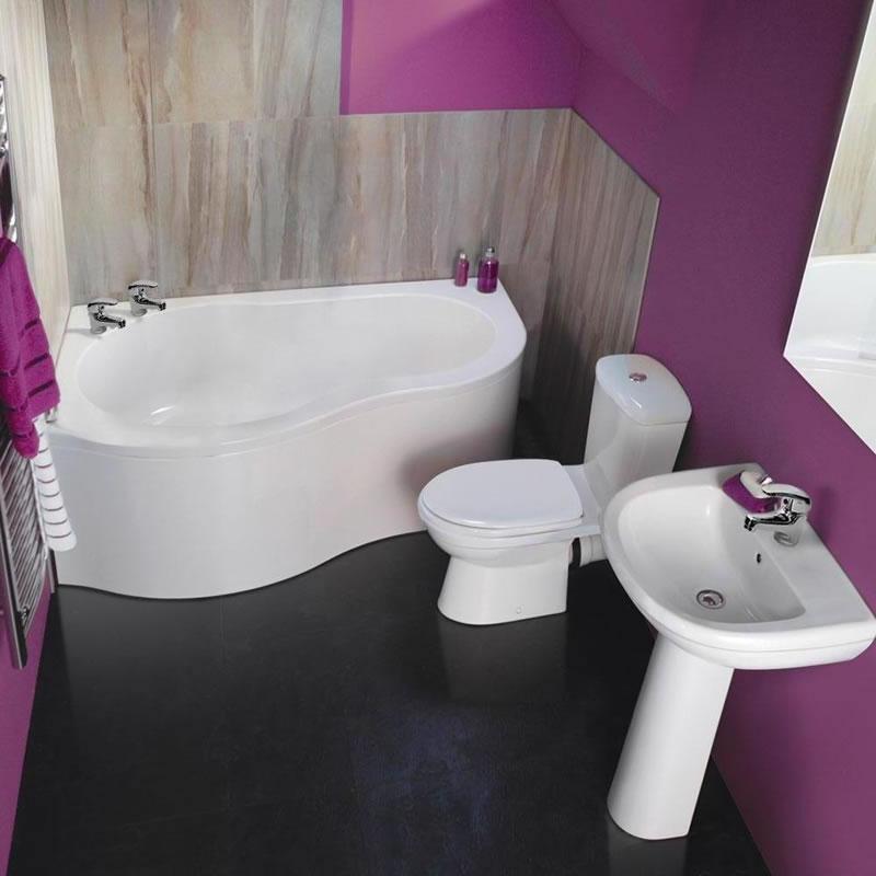 Set completo per stanza da bagno con vasca angolare - Bagno con vasca angolare ...