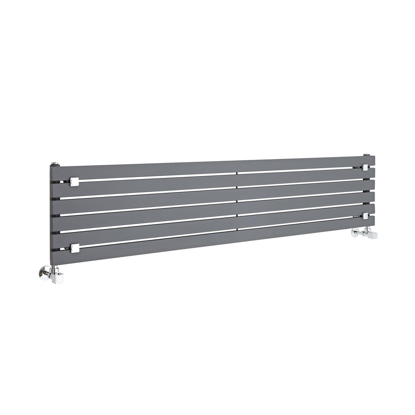 Radiatore di Design Orizzontale - Antracite - 354mm x 1600mm x 54mm - 773 Watt - Sloane