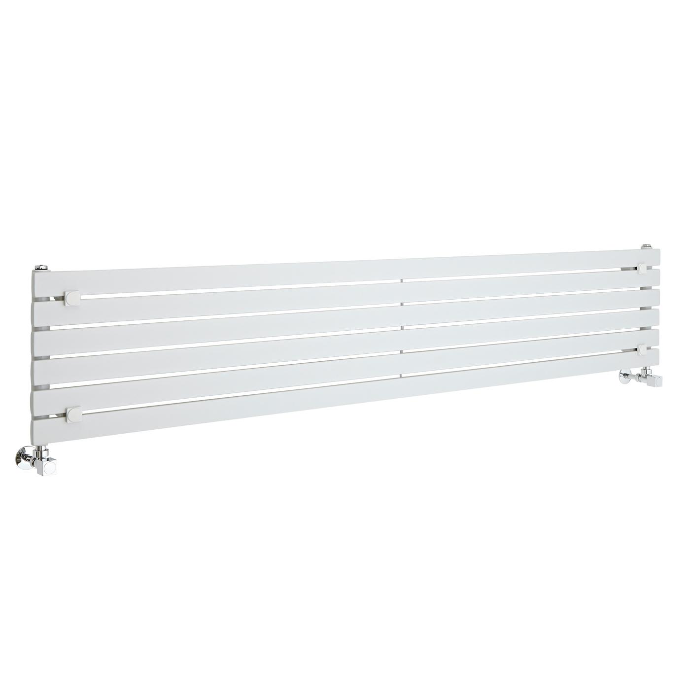 Radiatore di Design Orizzontale  - Bianco - 354mm x 1780mm x 54mm - 821 Watt - Sloane