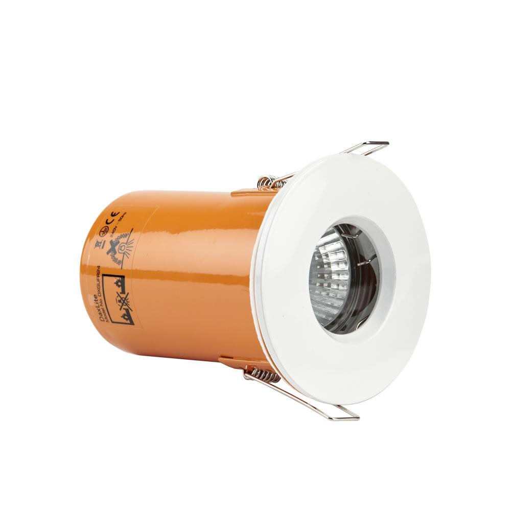 Faretto LED Downlight GU10 da Incasso con Struttura di Colore Bianco