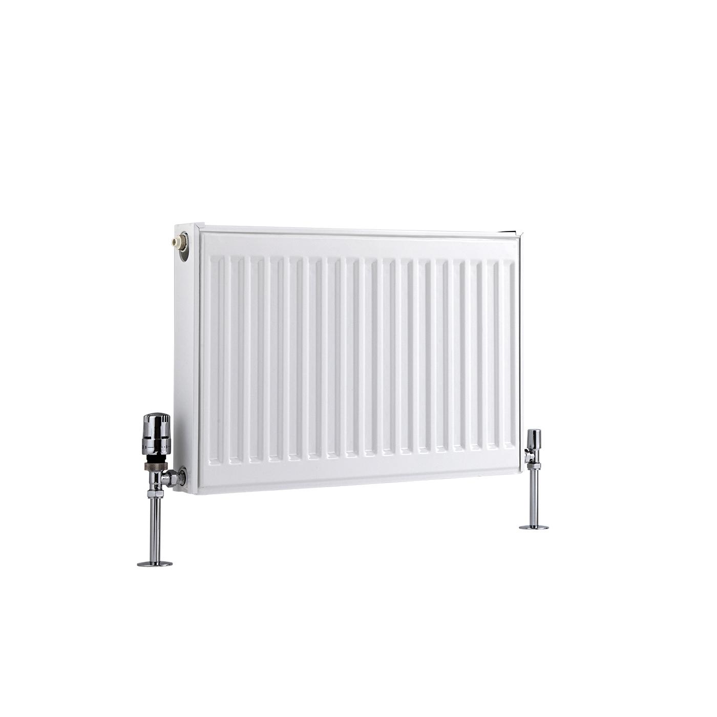 Radiatore a Piastra Orizzontale - Bianco - 400mm x 600mm x 50mm - 410 Watt - Eco