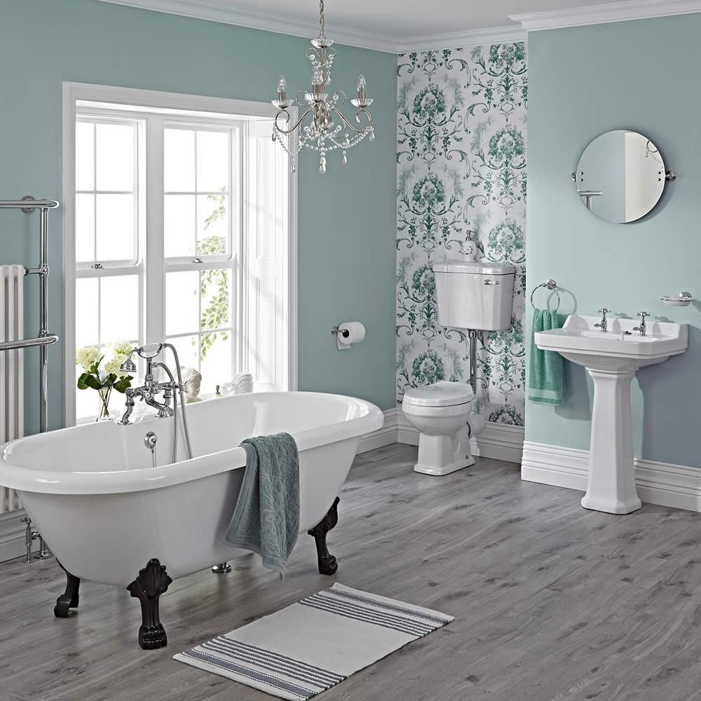 Set completo per stanza da bagno con vasca lavabo for Stanza da bagno