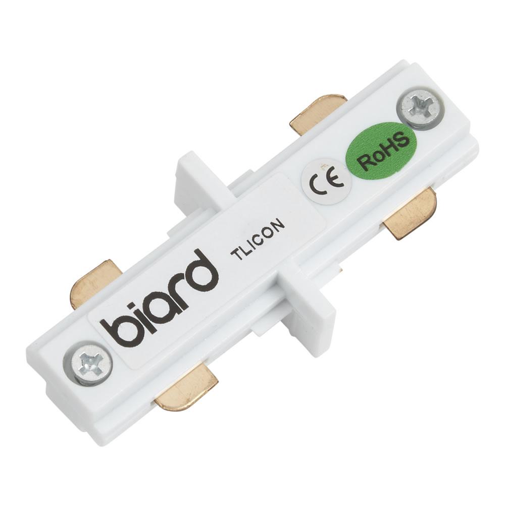 Connettore Dritto per Sistema su Binario Bianco