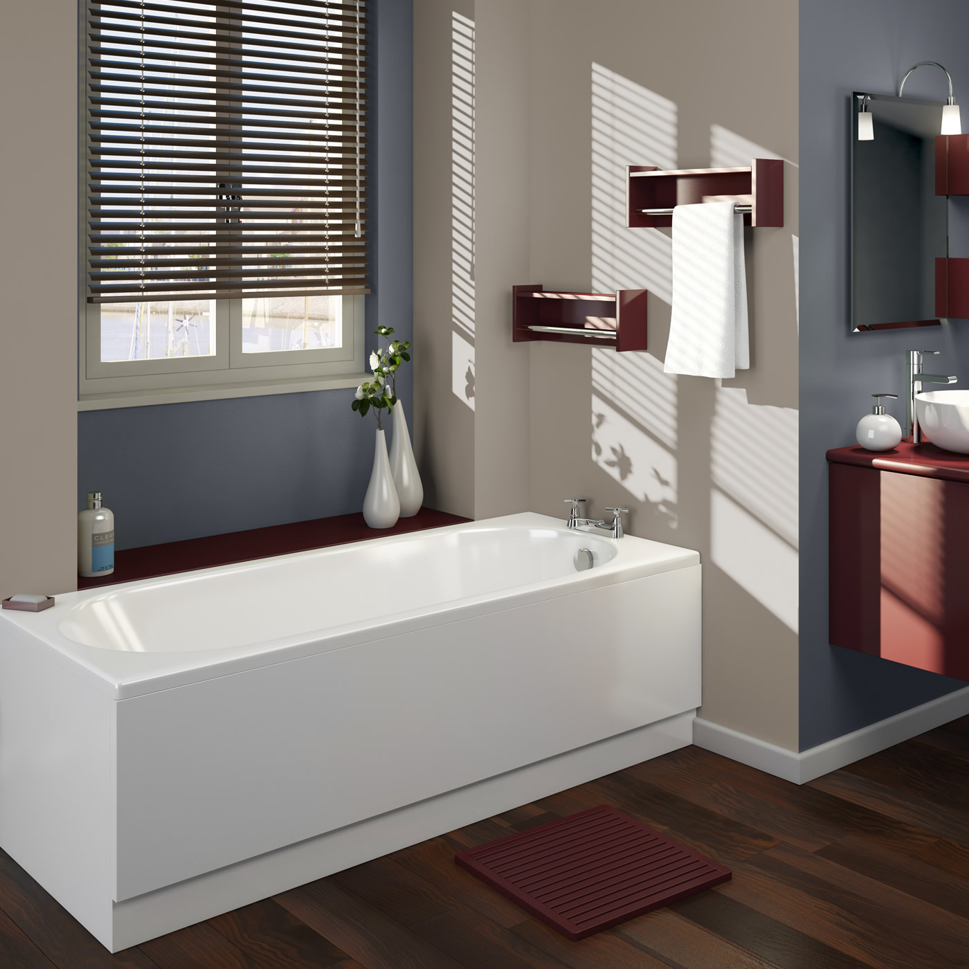 Vasca da bagno rettangolare 1500x700mm senza pannello vasca - Vasca da bagno rettangolare ...