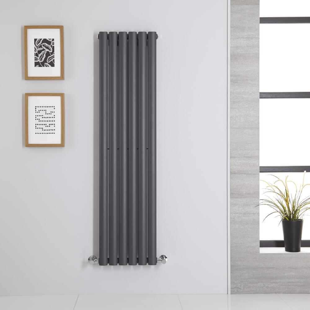 Radiatore di Design Verticale - Antracite - 1400mm x 354mm x 56mm - 686 Watt - Revive