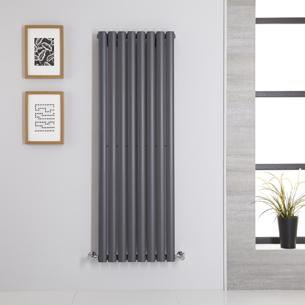 Radiatore di Design Verticale - Antracite - 1400mm x 472mm x 56mm - 915 Watt - Revive