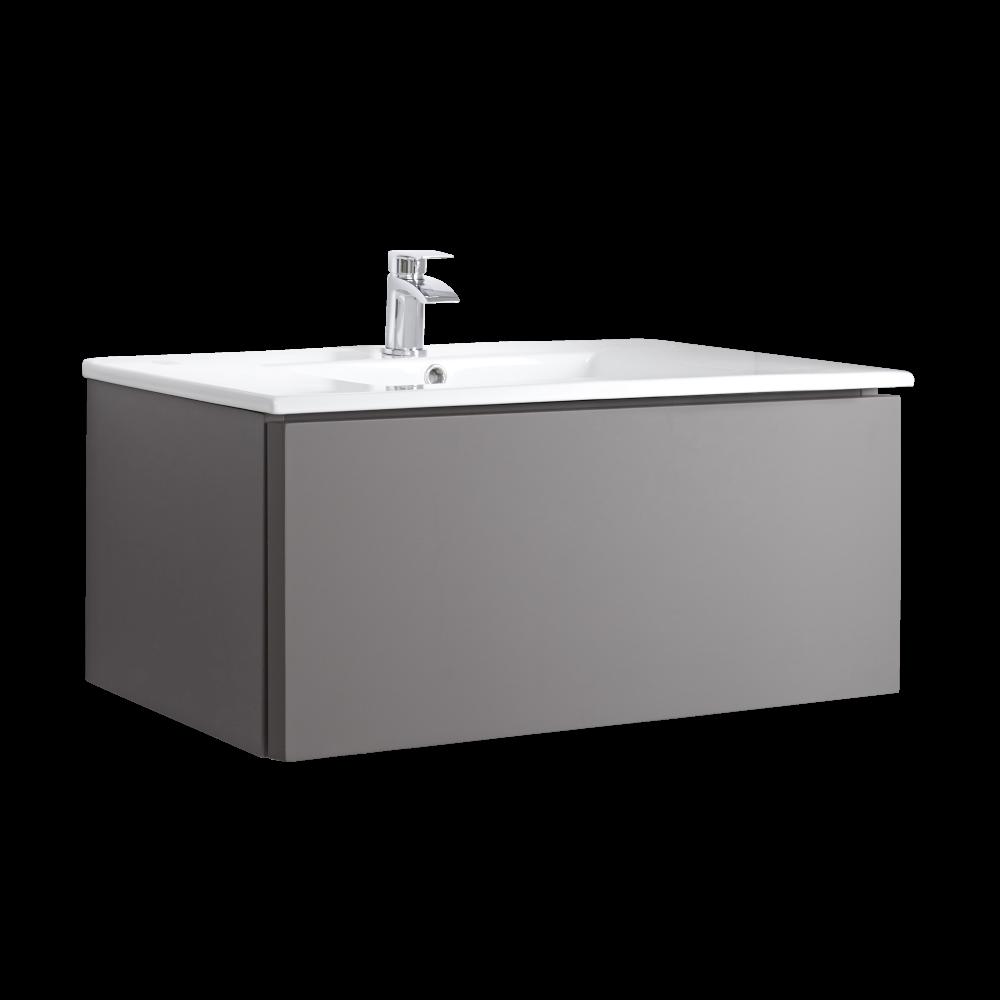 Mobile Bagno Murale 1000mm con Lavabo Integrato Colore Gris Opaco - Newington