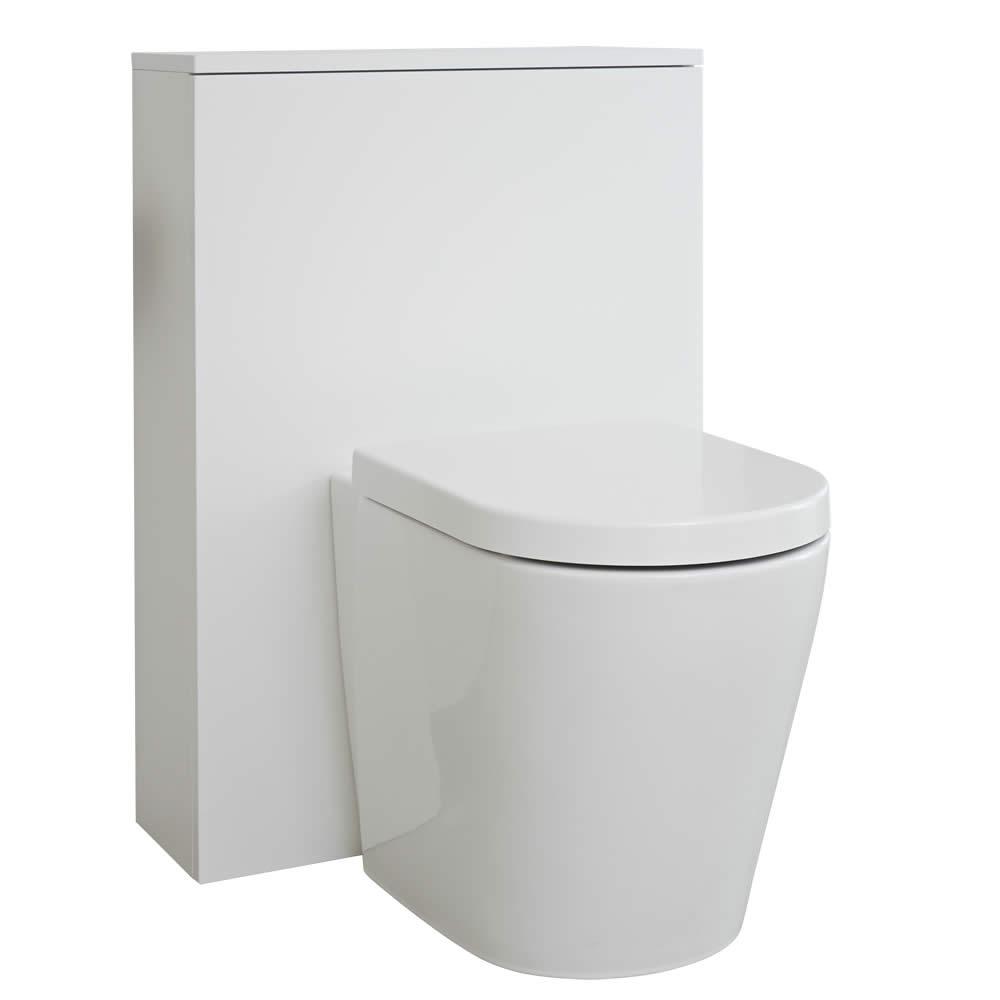 Mobile WC per Stanza da Bagno 600mm Colore Bianco Opaco - Newington