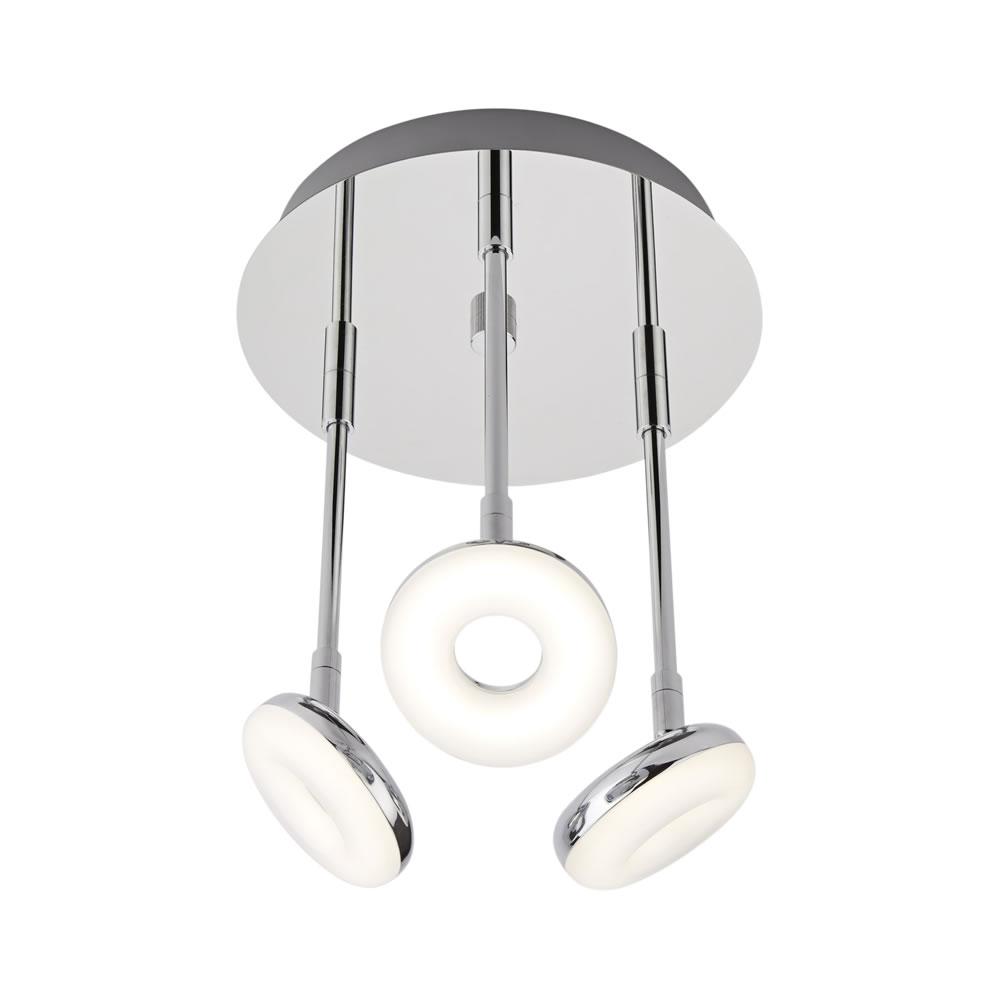 Plafoniera con 3 Faretti LED 16W a Soffitto per Stanza da Bagno - Ciambella
