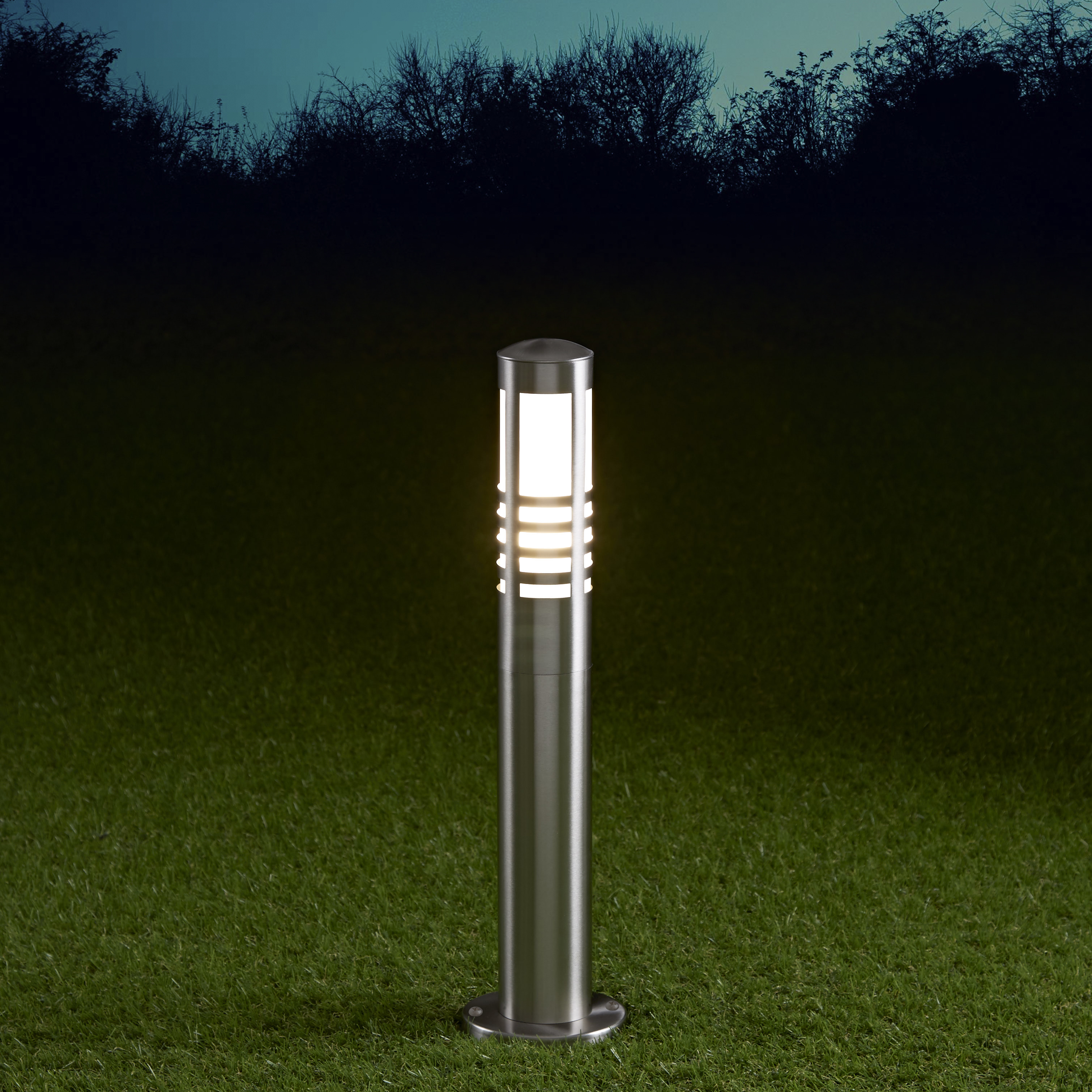 Biard Paletto LED da Esterno 6W in Acciaio Inox 450mm con Lampadina E27 - Orleans