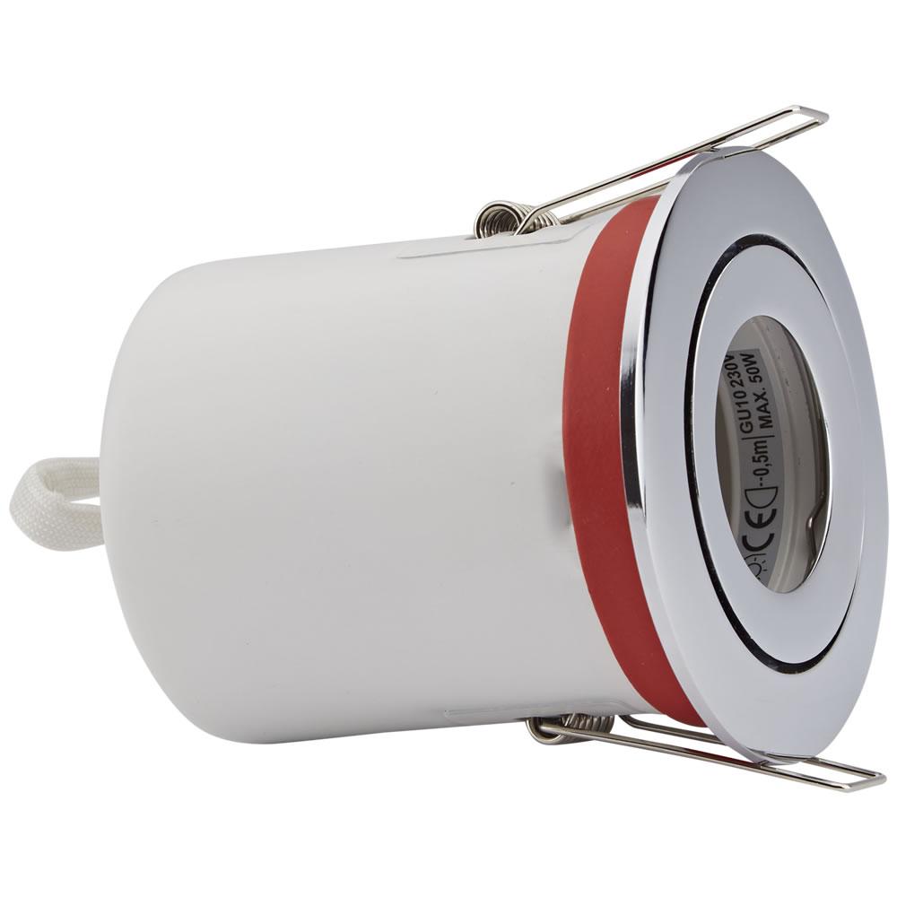 Faretto LED da Incasso GU10 Orientabile IP20 Protezione Ignifuga con Porta Faretto Rotondo Disponibile in 3 Colori