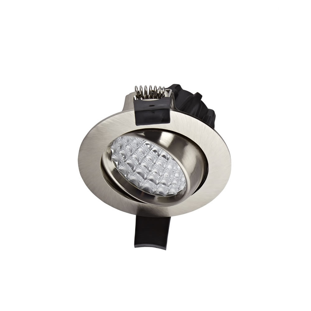 Biard Faretto LED Downlight 7W da Incasso Orientabile Dimmerabile - Nichel