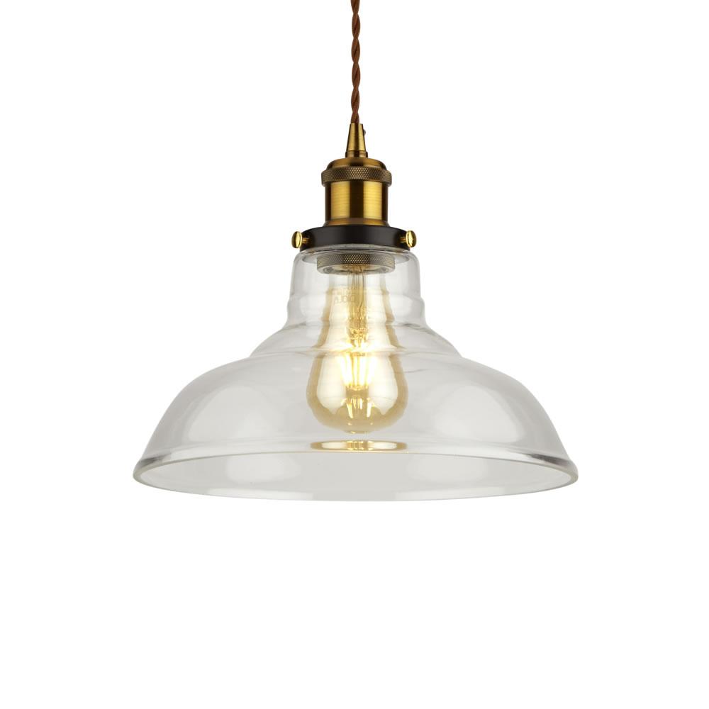 Biard Lampada a Sospensione in Stile Vintage con Vetro Trasparente Disponibile in 5 Colori - Haga