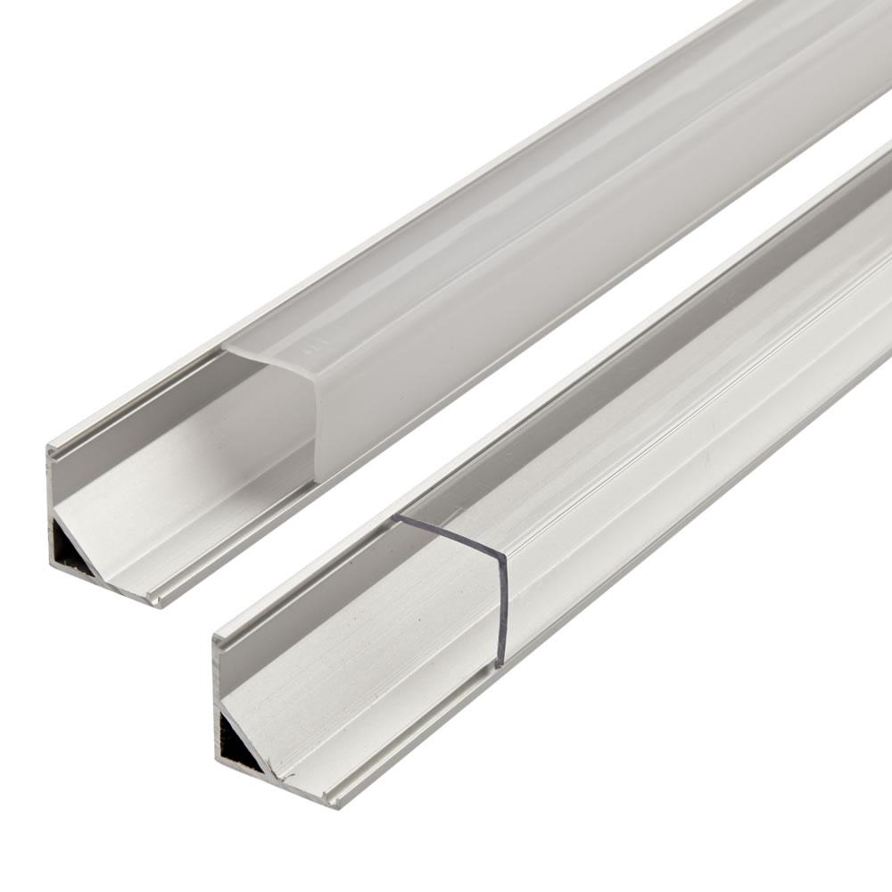Biard Copertura Alluminio per Illuminazione LED Finitura Bianca 100cm