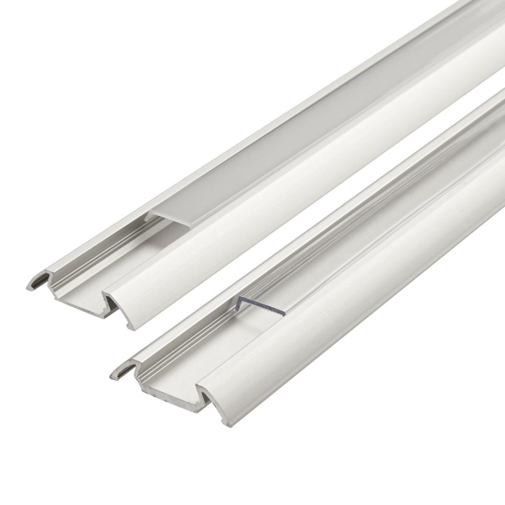 Biard Copertura Alluminio Colore Bianco per Illuminazione LED 100cm