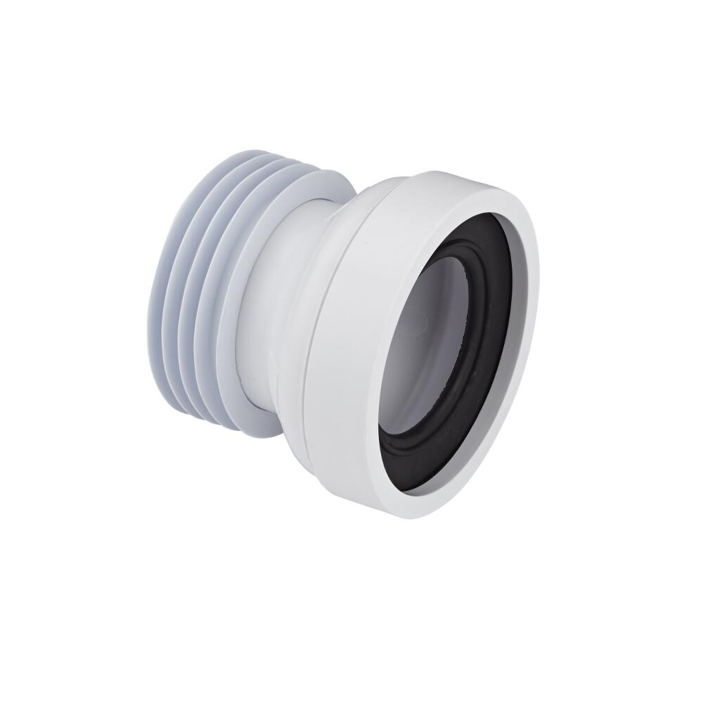 Morsetto Prolunga per Scarico WC a Pavimento a Terra con Entrata da 97 a 107mm ed Uscita 110mm McAlpine