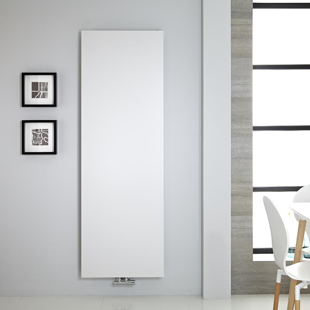 Radiatore di Design Verticale - Piastra Radiante- Attacchi Centrali - Acciaio - Bianco - 1800mm x 600mm - 1404 Watt - Rubi
