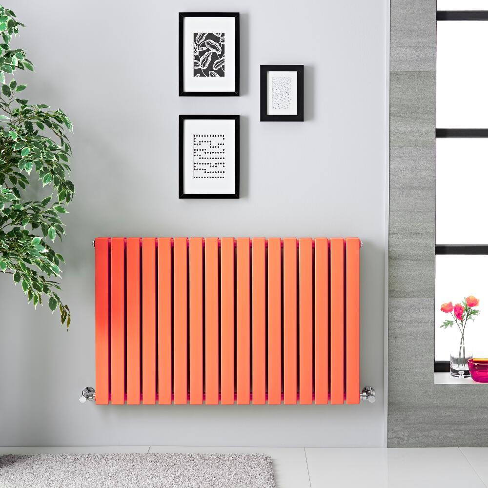 Radiatore di Design Orizzontale Doppio - Arancione Chiaro - 635mm x 1000mm x 71mm - 1022 Watt - Sloane