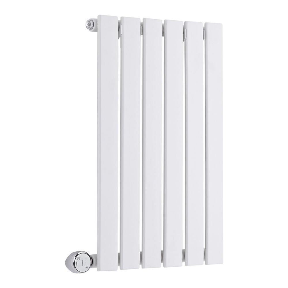 Radiatore di Design Elettrico Orizzontale - Bianco - 635mm x 420mm x 54mm  - Elemento Termostatico  400W  - Sloane