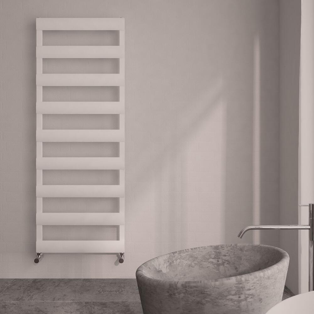 Radiatore Scaldasalviette Piatto - Alluminio - Bianco - 1590mm  x 500mm x 36mm - 683  Watt - Gradus