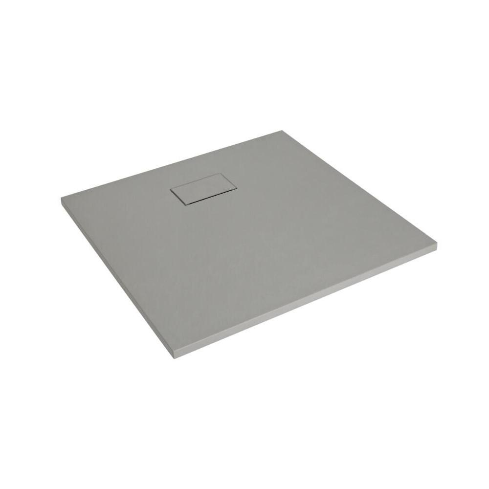 Piatto Doccia Quadrato Effetto Pietra Colore Grigio Chiaro 900mm