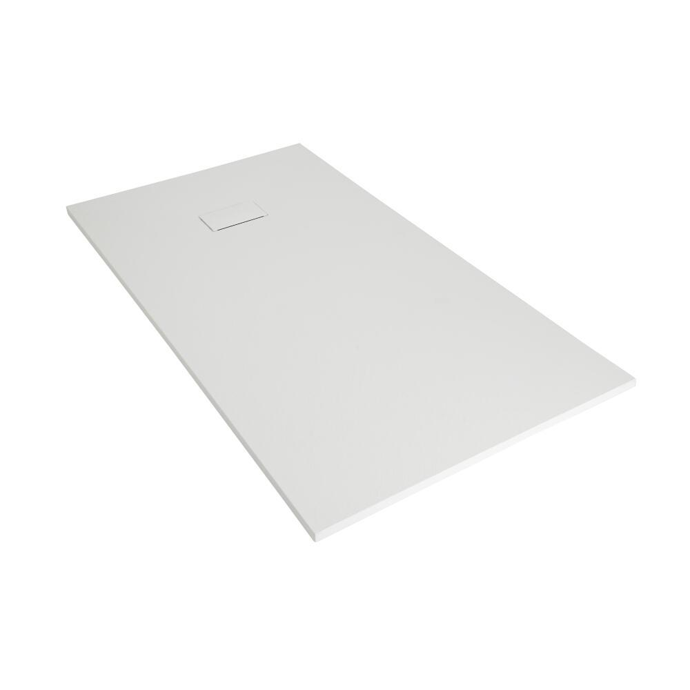 Piatto Doccia Rettangolare Effetto Pietra Colore Bianco Opaco 900x800mm