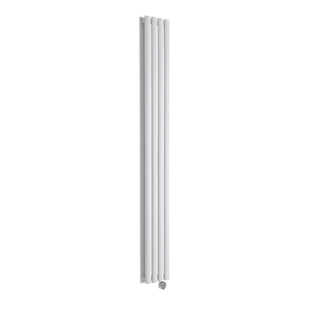 Radiatore di Design Elettrico Verticale Doppio - Bianco - 1780mm x 236mm x 78mm  - 1 Elemento Termostatico 1200W  - Revive